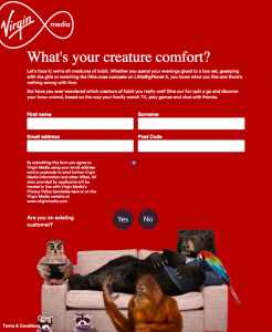 Virgin Media web application